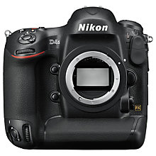 "Buy Nikon D4S Digital SLR Camera, HD 1080p, 16.2 MP, 3.2"" LCD Screen, Body Only with 16GB + 8GB Memory Card Online at johnlewis.com"