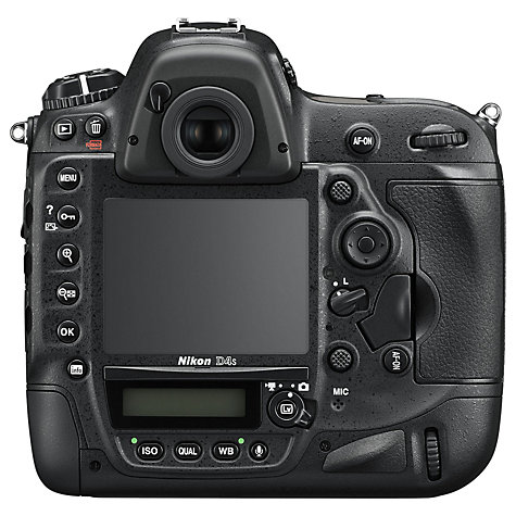 "Buy Nikon D4S Digital SLR Camera, HD 1080p, 16.2 MP, 3.2"" LCD Screen, Body Only Online at johnlewis.com"