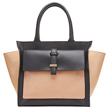 Buy Whistles Renee Structured Trapeze Handbag, Nude Online at johnlewis.com
