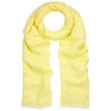 Buy Whistles Linen Blend Scarf, Yellow Online at johnlewis.com