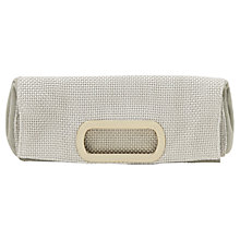 Buy Reiss Viper Metal Handle Clutch, Silver Online at johnlewis.com