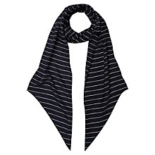 Buy Hobbs Skinny Stripe Scarf, Navy Online at johnlewis.com