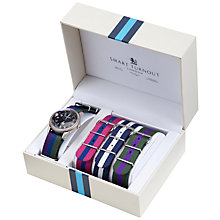 Buy Smart Turnout Antique Finish Watch & Multi Strap Set, Black/Multi Online at johnlewis.com
