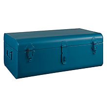 Buy House by John Lewis Large Metal Trunk, H19 x L47 x W27cm, Teal Online at johnlewis.com
