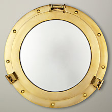 Buy John Lewis Brass Porthole Mirror Online at johnlewis.com