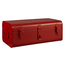 Buy House by John Lewis Metal Trunk, H17 x L22 x W42cm, Red Online at johnlewis.com