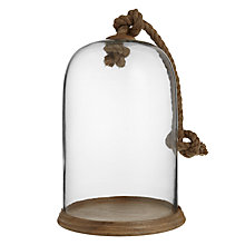 Buy John Lewis Glass Dome with Wooden Plinth Online at johnlewis.com