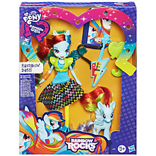Buy My Little Pony Rainbow Rocks Rainbow Dash Doll & Pony Set Online at johnlewis.com