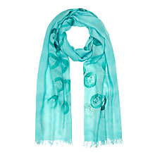 Buy Jigsaw Tappo Spot Scarf, Turquoise Online at johnlewis.com