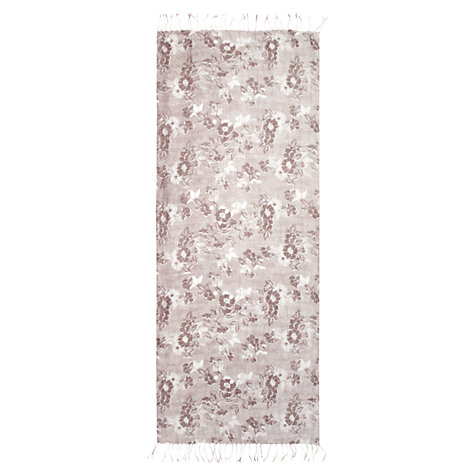 Buy Jigsaw Wood Block Print Scarf, Taupe Online at johnlewis.com
