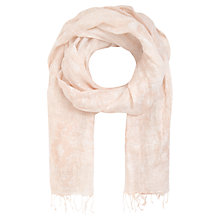 Buy Jigsaw Wood Block Print Linen Scarf Online at johnlewis.com
