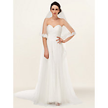 Buy Phase Eight Esme Lace Trim Veil, Ivory Online at johnlewis.com