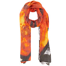 Buy Jigsaw Stain Glass Scarf, Orange Online at johnlewis.com