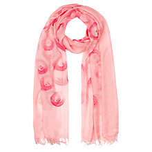 Buy Jigsaw Tappo Spot Scarf, Pink Online at johnlewis.com