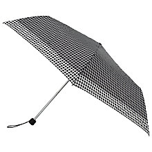 Buy John Lewis Micro Umbrella, Black/White Online at johnlewis.com