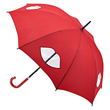 Buy Lulu Guinness Kensington Lips Umbrella, Red Online at johnlewis.com