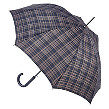 Buy Fulton Shoreditch Menzies Walking Umbrella, Navy Online at johnlewis.com