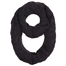 Buy John Lewis Cashmere Cable Knit Snood, Winter White Online at johnlewis.com