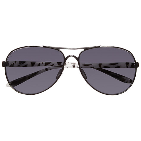 Buy Oakley OO4079-05 Feedback™ Aviator Sunglasses, Metallic Black Online at johnlewis.com