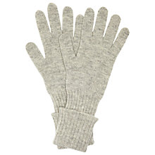 Buy John Lewis Cashmere Long Gloves, Grey Online at johnlewis.com