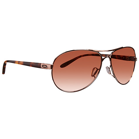 Buy Oakley OO4079 Feedback™ Aviator Metal Frame Sunglasses Online at johnlewis.com