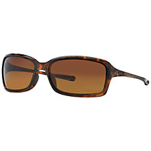 Buy Oakley OO9233 Dispute Polarised Rectangular Sunglasses, Tortoise Online at johnlewis.com