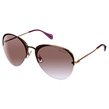 Buy Miu Miu MU53PS 7OE2H2 Round Aviator Sunglasses, Anthracite Online at johnlewis.com
