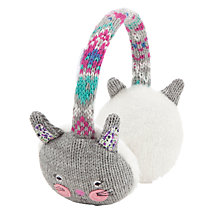 Buy John Lewis Rabbit Ear Muffs, Grey Online at johnlewis.com