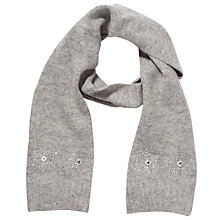 Buy John Lewis Girl Snowflake Scarf, Grey Online at johnlewis.com