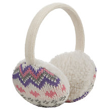 Buy John Lewis Fair Isle Ear Muffs, Cream/Multi Online at johnlewis.com