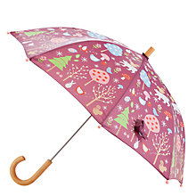 Buy Hatley Woodland Umbrella, Red Online at johnlewis.com