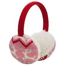 Buy John Lewis Christmas Fairisle Ear Muffs, Red Online at johnlewis.com