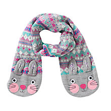 Buy John Lewis Fair Isle Rabbit Scarf, Grey Online at johnlewis.com