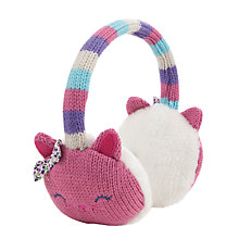Buy John Lewis Girl Novelty Cat Ear Muffs, Pink Online at johnlewis.com