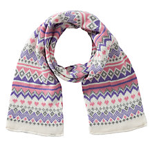 Buy John Lewis Girls' Fair Isle Knit Scarf, Multi Online at johnlewis.com