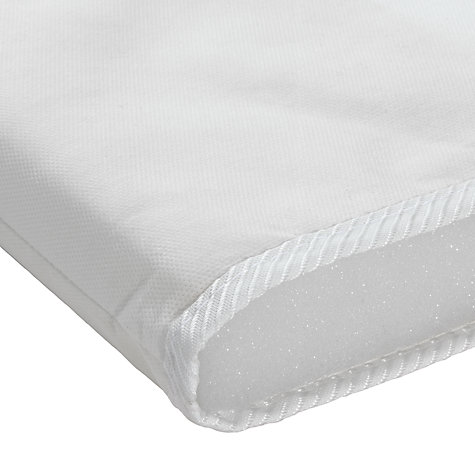 Buy John Lewis Foam Moses Basket Mattress, 74 x 28cm Online at johnlewis.com