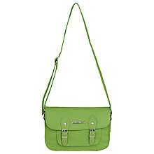 Buy French Connection Cross Etched Satchel Bag, Neon Green Online at johnlewis.com