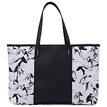 Buy French Connection Horse Print Canvas Handbag, White/Black Online at johnlewis.com