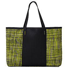 Buy French Connection Textured Check Print Handbag, Sulphur/Black Online at johnlewis.com