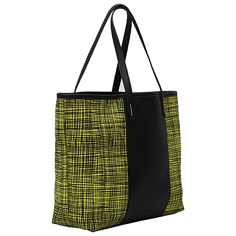 buy french connection textured check print shopper bag. Black Bedroom Furniture Sets. Home Design Ideas