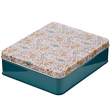 Buy John Lewis Daisychain Print Storage Tin, Citrine Online at johnlewis.com