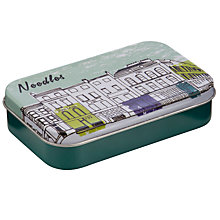 Buy John Lewis Building Print Mini Needles Tin Online at johnlewis.com