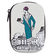 Buy John Lewis 1920s Ladies Print Zip Sewing Kit, White Online at johnlewis.com