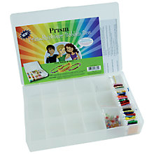 Buy Prism FriendshipWear Bobbin Box with Beads, 27 x 18cm, Clear Online at johnlewis.com