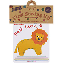 Buy Buttonbag Felt Lion First Sewing Kit Online at johnlewis.com