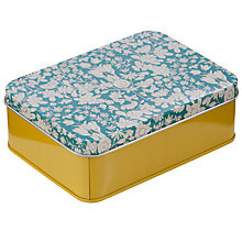 Buy John Lewis Daisychain Print Storage Tin, Teal Online at johnlewis.com