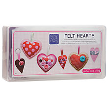 Buy Paper and String Sew Your Own Felt Hearts Kit Online at johnlewis.com