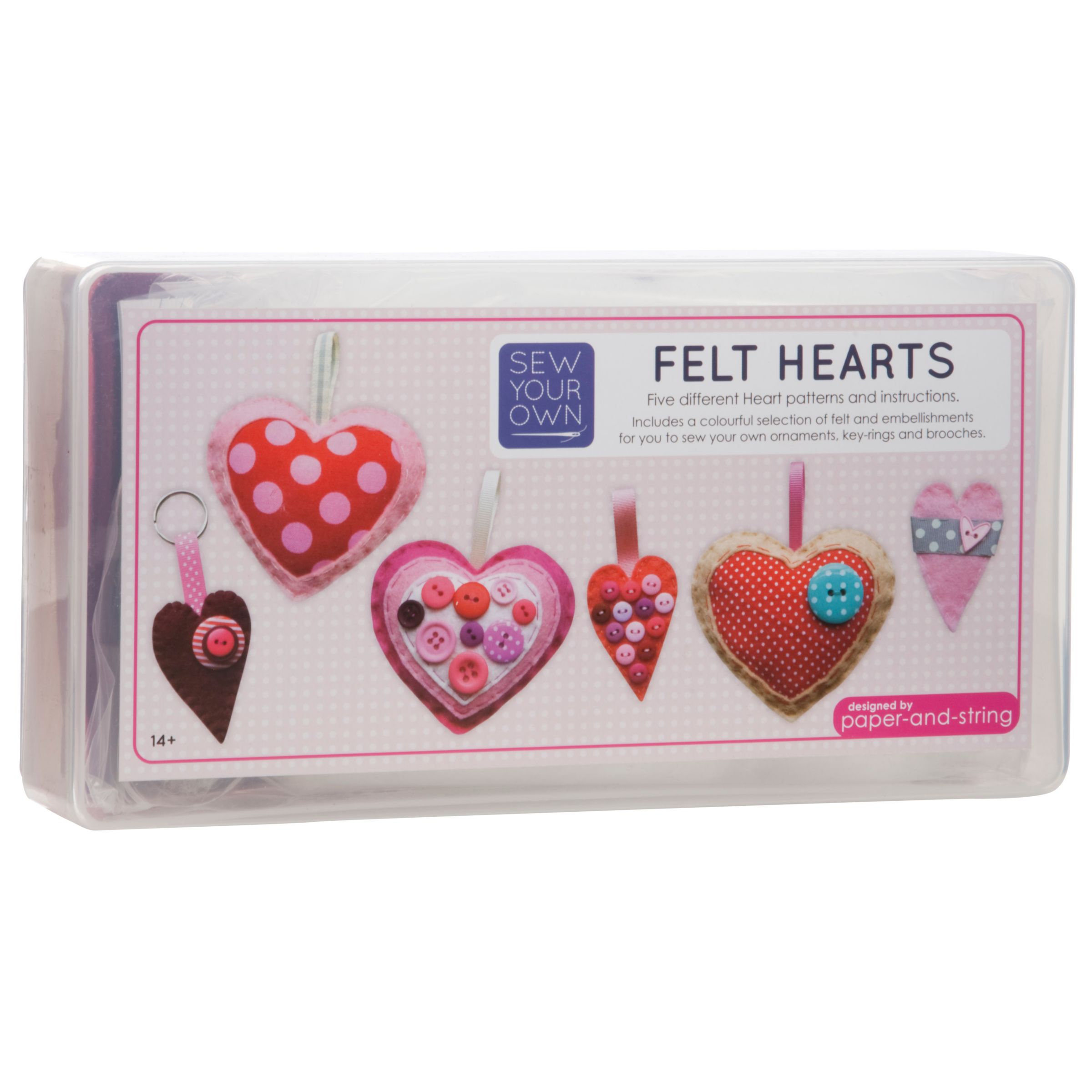 Paper and String Paper and String Sew Your Own Felt Hearts Kit