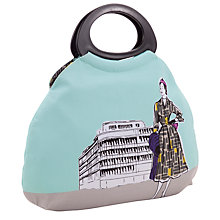 Buy John Lewis 1950s Ladies Print Craft Bag, Blue/Grey Online at johnlewis.com