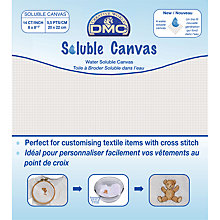 Buy DMC Soluble Canvas, 14 Count Online at johnlewis.com